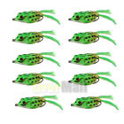 10Pcs Fishing Lures Large Frog Topwater Crankbait Hooks Bass Bait Tackle New
