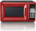 Countertop 0.7 Cu. Ft. Red Microwave Oven 700W Digital LED Kitchen Compact Small photo