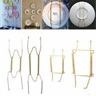 """8"""" To 16""""Inchs Square Dish Hangers Spring Holder W Type Hook Wall Display Plate"""