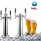 2/3Tap Triple Faucet Stainless Steel Draft Beer Tower Homebrew Bar For Kegerator