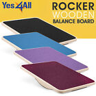 Yes4All Rocker Wooden Balance Board 17.5 Inch Stability Disc Supports 350 Lbs image