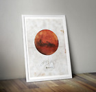 Mars - Aris Print Space poster Collectable Art NASA Astronomy Wall Art Saturn A3
