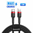 Baseus Micro USB/Type-C Charging Cable Fast Charging Data Sync Charger Cord New