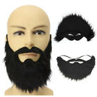 Fake Beard Costume Party Mustache Black Halloween for Pirate Cosplay Code