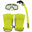 US Kid Glass PVC Swimming Swim Diving Scuba Anti-Fog Goggles Mask Snorkel Set BO
