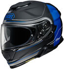 Shoei Adult Matte Black/Blue GT-AIR II Crossbar TC-10 Motorcycle Helmet