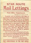 Kyпить Vintage 1912  Post Office Star Route Mail Lettings Posting / Poster  Form 4292 на еВаy.соm