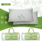 Queen Size Bamboo Shredded Memory Foam Pillows Hypoallergenic Cooling W/ Cover image
