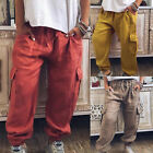 Women Ladies Baggy Bottoms Casual Color Pure Fashion Loose Fit Pants Trousers