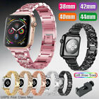 For Apple Watch Series 5/4/3/2/1 Stainless Steel Wrist iWatch Band Strap Bling image