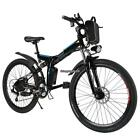 26inch eBike Foldable Electric Power Mountain Bicycle Men Bike w/Lithium Battery