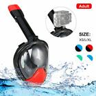 Snorkel Mask Full Face Free Breath Diving Swimming  Safety Certificate Anti-Fog
