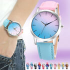 Fashion Gradient Children Stainless Steel Quartz Students Watches Colorful Dial