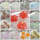 "2.5"" wide Wedding Roses Flowers Floating Candles Centerpieces Decorations SALE"