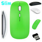 Slim 2.4GHz Optical  Office Mouse Wireless/Wired With USB Receiver For Laptop PC