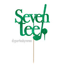 Seventy Golf Cake Topper - Assorted Colours - Tee - Seven-tee - Golfer - 70