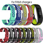 Strap Silicone Bracelet Charge 3 Band Replacement Wristband For Fitbit Charge 3 image