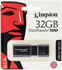 Kingston DT100G3 16GB 32GB 64GB 128GB DataTraveler 100G3 USB 3.1 Flash Drive Lot <br/> Kingston Original, USA Seller, Lifetime Warranty!