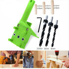 Detachable Hardware Wood Hole Punch Jig Tool Drill Cabinet Dowelling Locator
