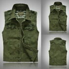 Mens Sleeveless Jackets Vest Waistcoat Casual Slim Fit Lapel Button Overcoat