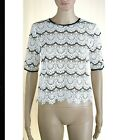 Blusa Donna Camicia in Pizzo TOY G by PINKO Italy Manica Corta I970 Bianco Tg 42