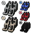 Complete Set Car Seat Cover Auto Front Rear Head Rests for Cars Truck SUV Van $20.99 USD on eBay