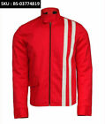 Elvis Presley Speedway Slim Fit Red Cotton With White Stripes Jacket