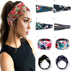 Floral Print Headband SPA Wide Elastic Hair Bands Sweatband Sport Yoga Headwrap