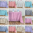 RECTANGULA​R Striped Satin Tablecloth Catering Dinner Wedding Party Linens SALE