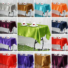 RECTANGULAR SATIN TABLECLOTH Dinner Wedding Party Linens Decorations Wholesale