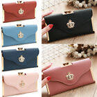 Women Clutch Leather Wallet Long Card Holder Lady Phone Bag Case Purse Handbag image