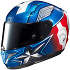 HJC Adult Blue/Red/White RPHA 11 Capt. America Motorcycle Helmet