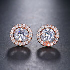 Ladies Charm Crystal 925 Sterling Silver Stud Earrings Fashion Womens Jewellery