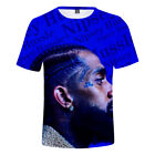 2019 Nipsey Hussle T-Shirt Songwriter American Rapper Crenshaw Adult 3D T-Shirt image