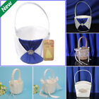 Внешний вид - New Flower Girl Basket Romantic Satin Lace Bowknot Wedding Ceremony Party Basket