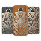 HEAD CASE DESIGNS ANIMAL WOOD PRINTS GEL CASE FOR MOTOROLA PHONES