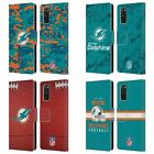 OFFICIAL NFL 2018/19 MIAMI DOLPHINS LEATHER BOOK CASE FOR SAMSUNG PHONES 1 $19.95 USD on eBay