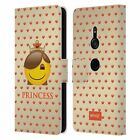 OFFICIAL emoji® ROYAL LEATHER BOOK WALLET CASE FOR SONY PHONES 1
