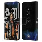 OFFICIAL WWE 2017 AJ STYLES LEATHER BOOK WALLET CASE FOR SONY PHONES 1