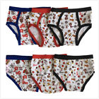 3 Pcs Boys Bikini Briefs Underwear Cotton Blend White Prints Size S XL