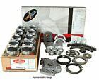 Enginetech RCC262TP Engine Rebuild Overhaul Kit Pistons Moly Rings Gaskets