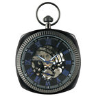 Casual Mechanical Pocket Watch Hollow Out Hand-winding Pendant Watch Open Face