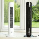"""Neo 29"""" Inch Air Cooling Free Standing Tower Fan 3 Speed Oscillating Quiet"""