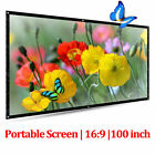 HD 60'' 72'' 84'' 100'' Projector Screen 16:9 For HomeTheater Presentation PPT