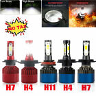 2x H4 H7 H1 Cree Led Headlight 200w 20000lm Hi/low Kit Bulbs Beam Hid Cob 6000k