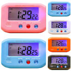 Digital LCD Snooze Timer Alarm Clock LED Backlight Night Light Bedroom Beside