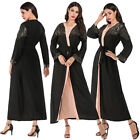 Abaya Women Muslim Maxi Dress Open Cardigan Kimono Sequin Kaftan Islamic Robes