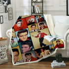 Elvis Presley 3D Print Sherpa Blanket Sofa Couch Quilt Cover Throw K09