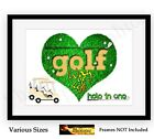 Golf Club Photo Poster Picture Print ONLY Golfing Hole in one Prints A4 / A3