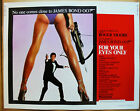233293 FOR YOUR EYES ONLY 1981 HALFSHEET MOVIE WALL PRINT POSTER US $106.5 CAD on eBay